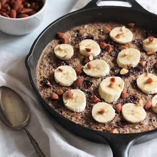 Dark Chocolate, Almond & Sea Salt Banana Baked Oatmeal