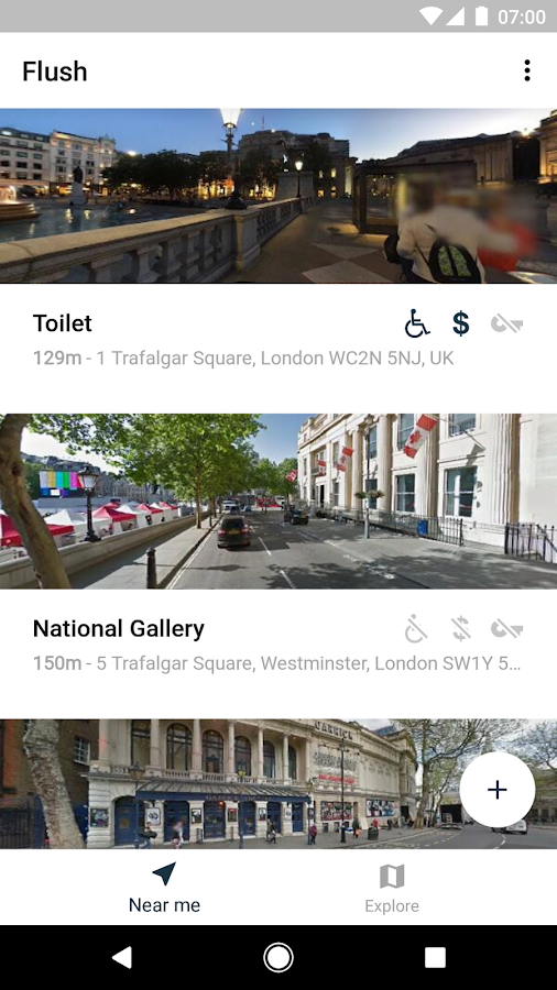 Flush - Crowdsourced Toilets: screenshot