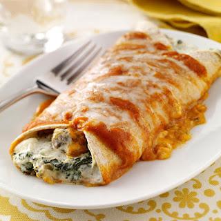 Artichoke & Spinach Enchiladas.