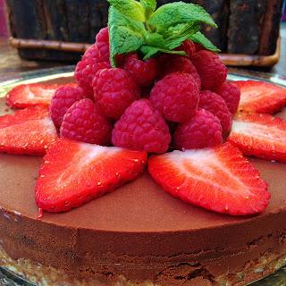 Cheeseless Chocolate Truffle Cheesecake