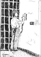 Photo: 簽牌2010.10.11鋼筆 散佈在名勤區的巡邏表是我們值班時必定時躬身親臨簽名之處,我們私下叫簽巡邏表為「簽牌子」…