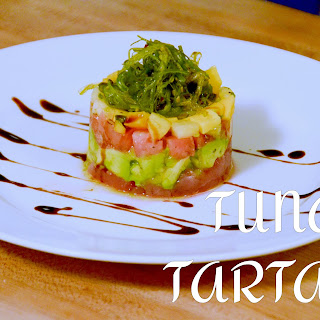 Tomato, Mango, Avocado, Tuna Tartare.