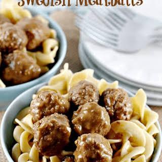 Crock Pot Swedish Meatballs.