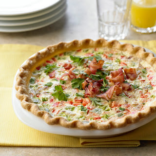 Goat Cheese, Pepper and Bacon Tart.