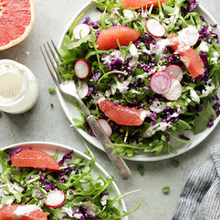 Winter Bliss Salad With Creamy Chia Seed Dressing.
