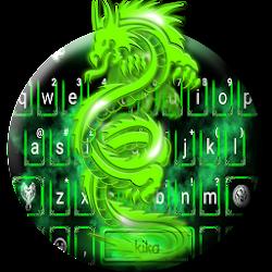 Green Neon Dragon Keyboard Theme
