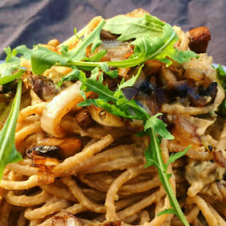 Vegan Creamy Mushroom Pasta.
