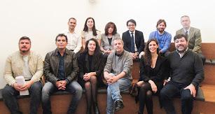 El jurado  junto al diputado de Cultura de  Manuel Guzmán y el director David Carrón.