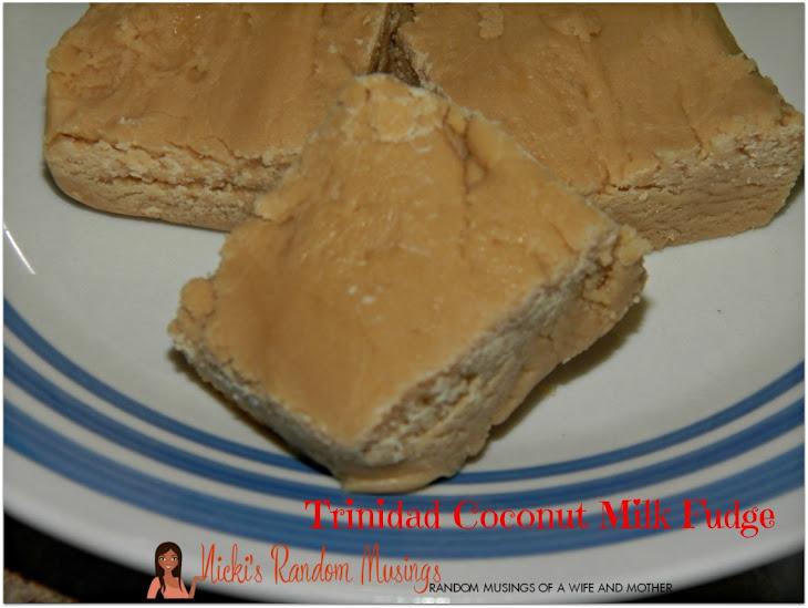 Trinidad Coconut Milk Fudge Recipe