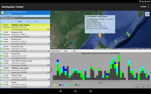 Earthquakes Tracker  screenshots 7