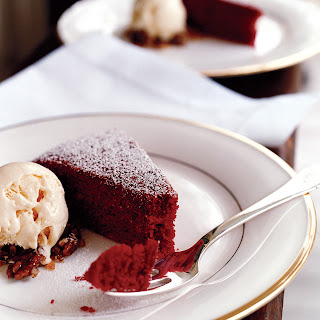 Red Velvet Cake with Cream Cheese Ice Cream.