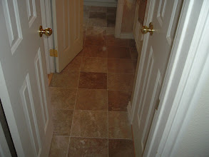 Photo: installation marble tile