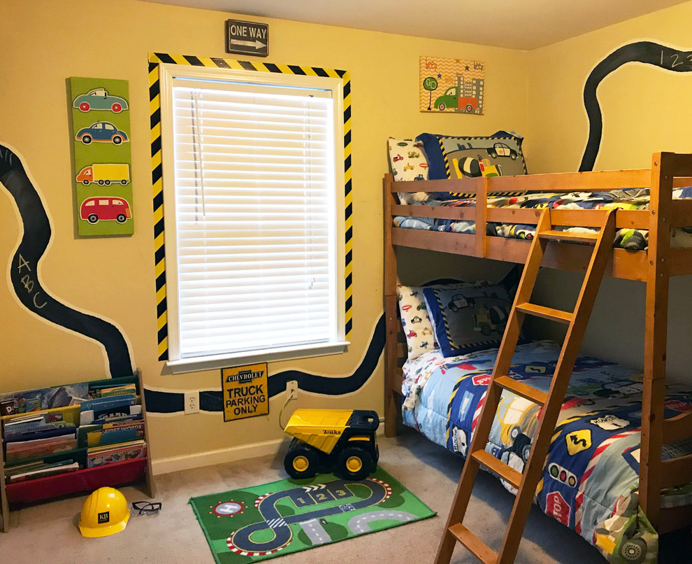 Transform Your Son's Room Into a Construction Zone or Racetrack