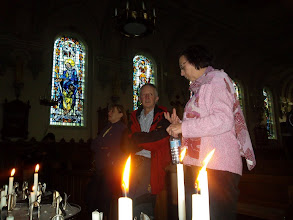 Photo: église de Grosbliederstroff, Gaby chante l'Ave Maria a capella.