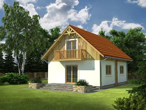 projekt Domek Lipowy szkielet drewniany 020 JK V3