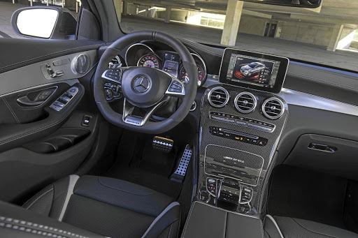 The interior has all the usual AMG touches