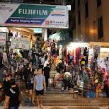 Pottinger street with many halloween street vendors in Hong Kong, , Hong Kong SAR