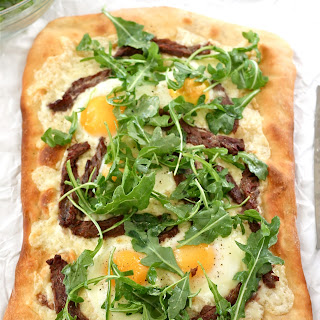 Steak, Egg, and Arugula Flatbread