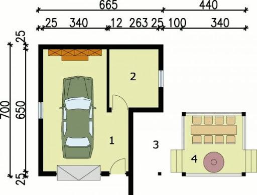 G24 - Rzut garażu