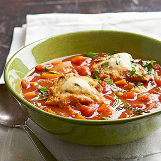 Tomato Soup with Basil Dumplings