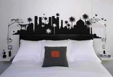 臥室的牆上繪畫設計理念