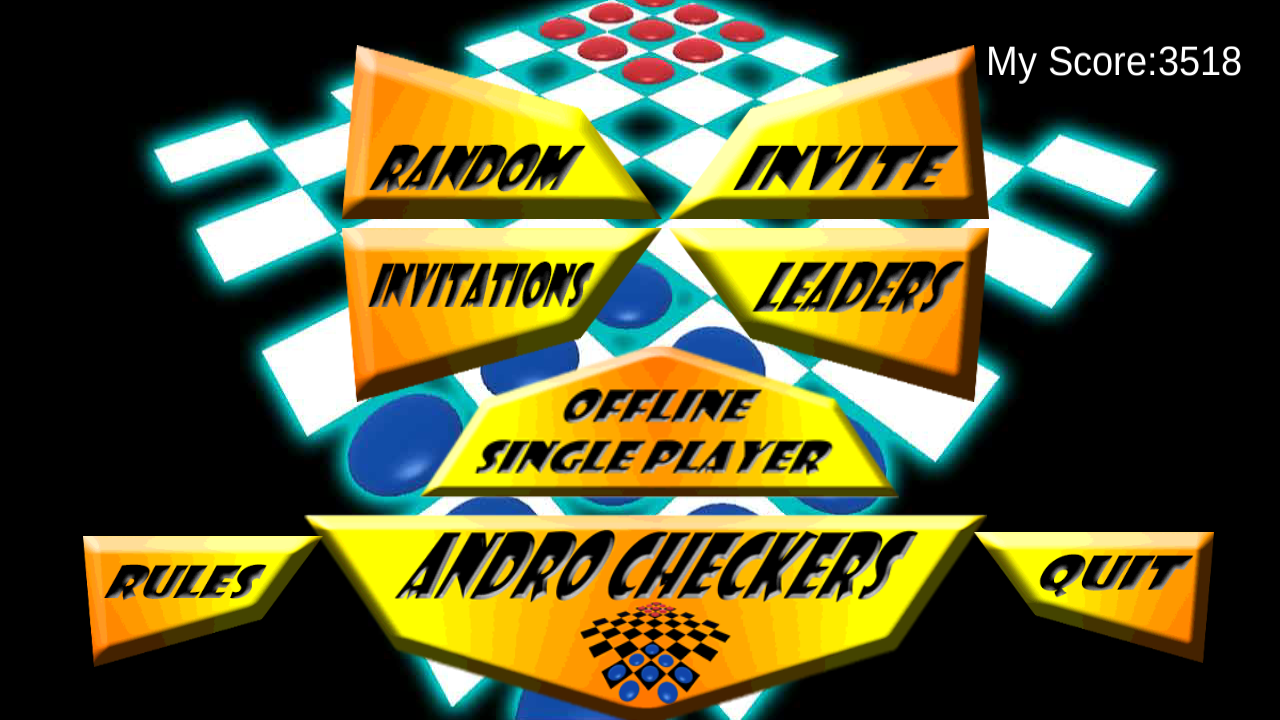 Andro Checkers Online- screenshot