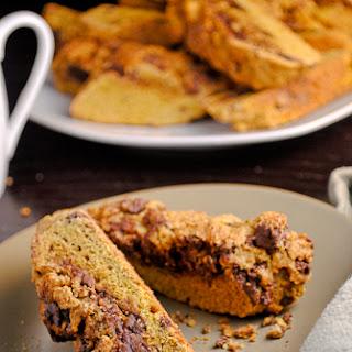 Cinnamon Sugar Topped Chocolate Swirled Pumpkin Biscotti