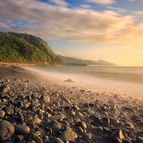 Amphere Golden Sunrise by Hiram Abanil - Landscapes Beaches ( amphere, baler )
