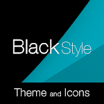 Black Cyan Premium Theme Icon