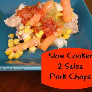 Slow Cooker 2 Salsa Pork Chops.