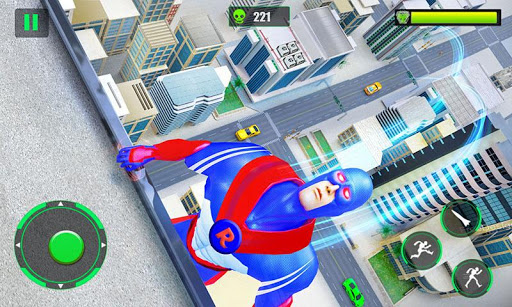 Flying Police Robot Rope Hero: Gangster Crime City apkmr screenshots 2