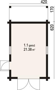 DP-GD1-03 - Rzut garażu