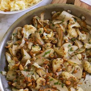 Cauliflower with Brown Butter, Pears, Sage & Hazelnuts