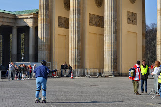 Photo: Berlin - go old lady on roller skates!