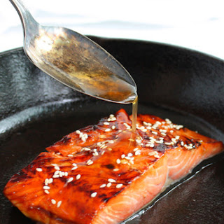 Ginger Soy Glazed Salmon.