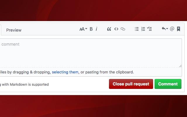 GitHub PR Close Button