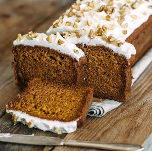 "Copycat Starbucks Gingerbread Loaf with Cream Cheese Frosting ""Loved this bread before..."