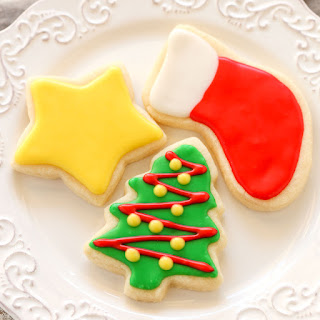Soft Christmas Cut-Out Sugar Cookies.