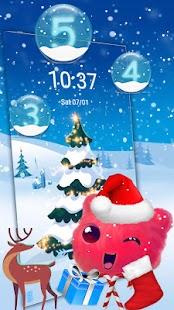 Fluffy Snow Santa Theme - náhled