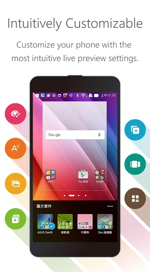 Zenui launcher theme wallpaper android apps on google play for Wallpaper home launcher