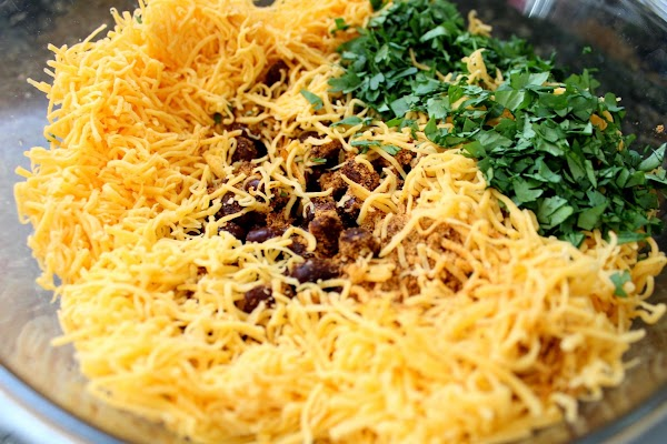 In a large mixing bowl add all remaining ingredients, including the remaining taco seasoning...