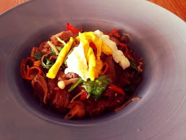 Korean Glass Noodles W Beef & Veggies (japchae) Recipe