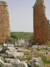 Photo: Perge Greek Gate. The towers are reminders of the Macedonia catapult towers!