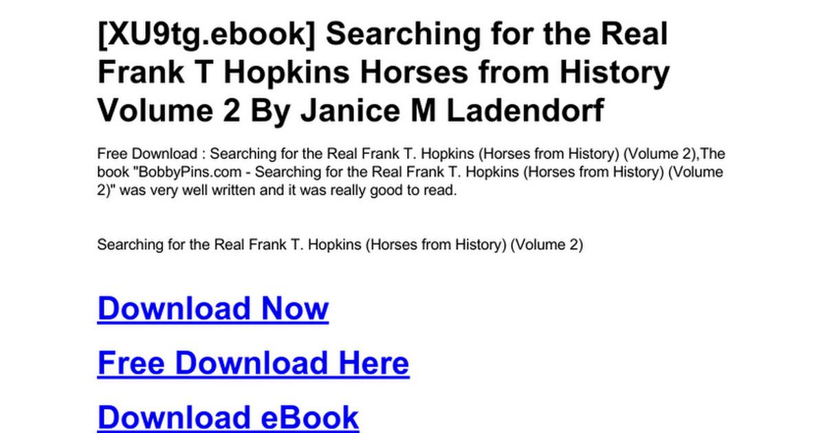 frank t hopkins book