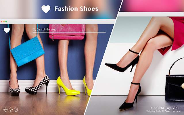 Fashion Shoes HD Wallpapers New Tab Theme