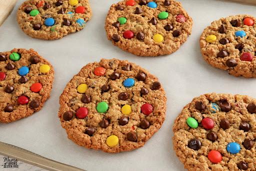 Gluten-Free Monster Cookies {Dairy-Free Option}