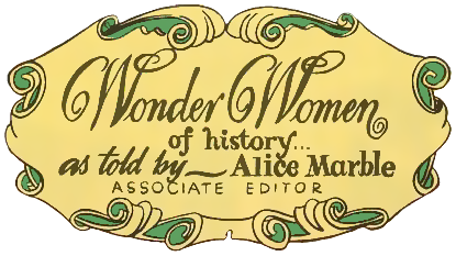 Alice Marble associate editor of Wonder Woman