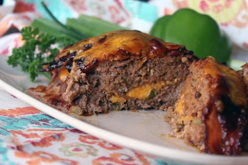 Bacon Wrapped BBQ Meatloaf Stuffed with Cheese