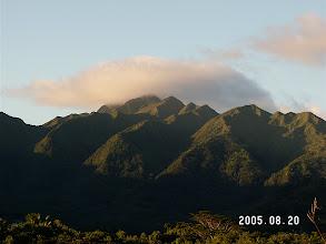 Photo: Cap cloud over Ko'olau mtns, from Manoa