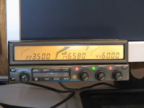 Photo: Kenwood TM-742A remote head velcro'd to monitor